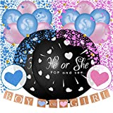 36' Baby Gender Reveal Balloon with Heart shaped Confetti, Pink and...