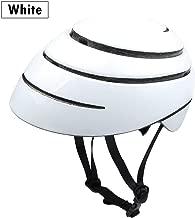 whhuwai Foldable City Leisure Road Bicycle Helmet EPS+ PC Outdoor Sports Cycling Folding Bike Helmet Sky Blue
