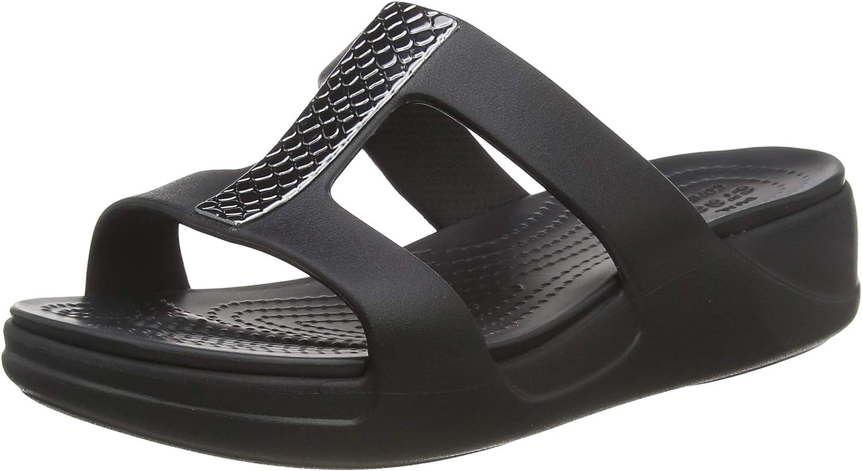 Special price Crocs Women's Monterey 4 years warranty Slip-On Wedge Metallic