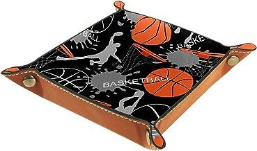 HOHOHAHA Składana taca do toczenia kości ze skóry PU do zegarka przechowywania biżuterii etui uchwyt sport koszykówka 16 x...