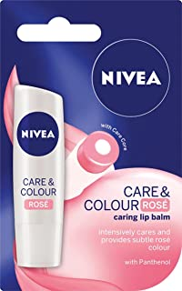NIVEA Care & Colour Rose Tinted Lip Balm, 4.8g
