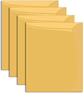 """MiPremium Gold Iron On Vinyl, PU Heat Transfer Vinyl HTV 12"""" x 10"""" inches 4 pre-Cut Sheets, for T Shirts Sports Clothing Other Garments & Fabrics, Easy to Cut Weed & Press Gold Vinyl (Gold)"""