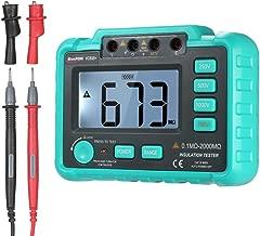 KKmoon 接地抵抗計 VC60B + LCD デジタル 絶縁抵抗計 DC250V / 500V / 1000V AC750V アーステスター メグオームハイテスタ