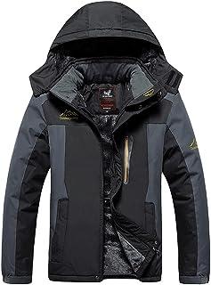 Mochoose Uomo Outdoor Mountain Impermeabile Windbreaker Vello Neve da Sci Giacche con Cappuccio Sportwear Rain Coat Campeg...