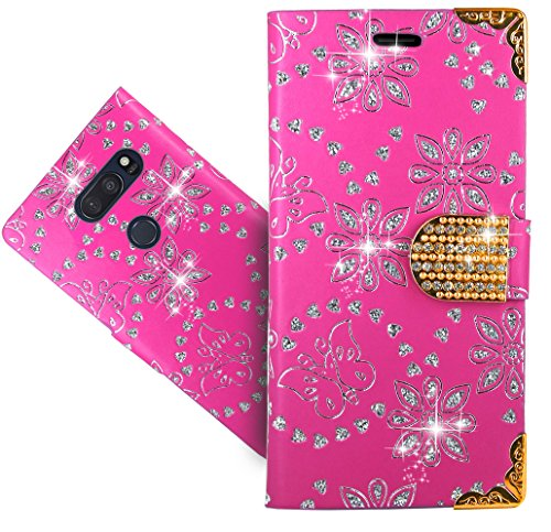 LG V35 ThinQ/V35+ ThinQ Handy Tasche, FoneExpert Wallet Hülle Cover Bling Diamond Hüllen Etui Hülle Ledertasche Lederhülle Schutzhülle Für LG V35 ThinQ/V35+ ThinQ
