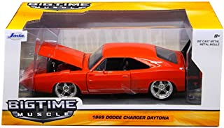 Jada Toys New 1:24 W/B Big TIME Muscle - RED 1969 Dodge Charger Daytona Diecast Model Car