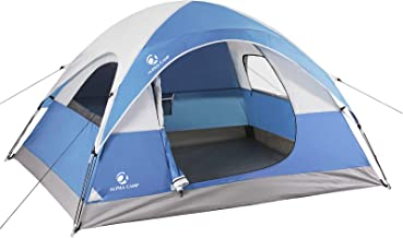 ALPHA CAMP 2/3 Person Camping Dome Tent with Carry Bag,...