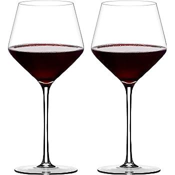 【匠の技】ワイングラス ブルゴーニュ 赤ワイン クリスタルワイングラス 高級感溢れたプレゼント 460ml ハンドメイド 100%鉛フリー 上質な吹きガラスならではクリアさ 薄さ 軽い 贈り物 オリジナル ギフト 化粧箱 2個入 1033