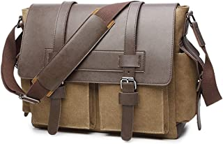 Mens Bag Zipper Canvas Crossbody Bag Shoulder Bag Men's Briefcase Computer Bag High capacity