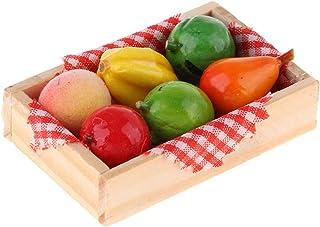 Fenteer Dollhouse Miniature Fruit Mixte Jouet avec Boîte De Rangement Aimant pour 1/12 Échelle Dollhouse Supermarché Épice...