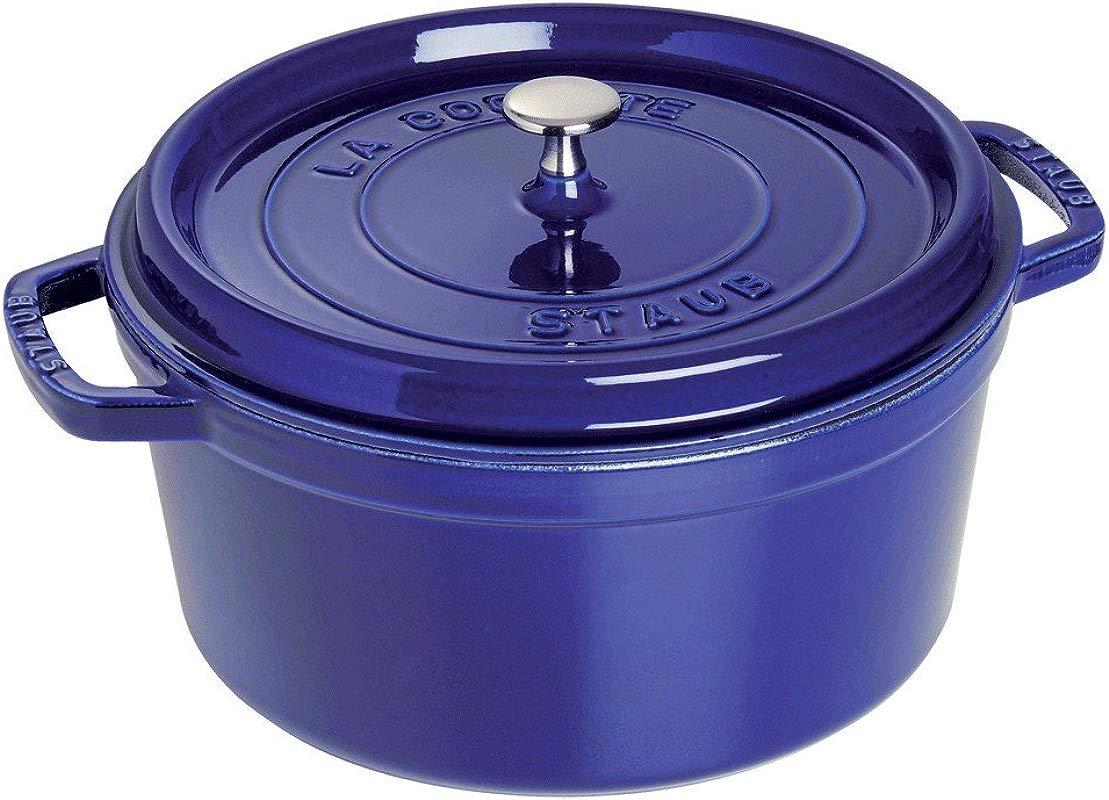 Staub 1102691 Round Cocotte 5 5 Quart Dark Blue