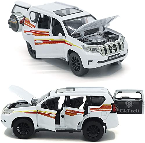 CkTech 1:32 Die-cast Toyota Prado Toy car Metal Cars Toyota Toy car Pullback Toy car for Kids Best Gifts Vehicle Toys...