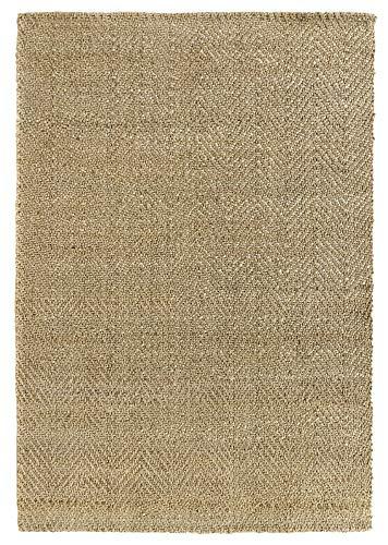 HAMID - Alfombra de Yute Alcázar - 100% Fibra de Yute Natural - Alfombra Suave - Tejida a Mano - Alfombra de Salón, Comedor, Dormitorio, Pasillos, Entrada - (Natural, 150x80cm)