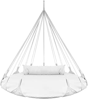 Sorbus Hanging Swing Nest with Pillow, Double Hammock Daybed Saucer Style Lounger Swing, 264 Pound Capacity, for Indoor/Ou...