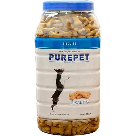 Purepet Milk Flavour, Real Chicken Biscuit,Dog Treats- Jar, 905g