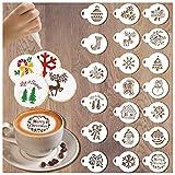 20 plantillas de galletas de Navidad, decoración de galletas de Navidad, herramientas de glaseado reales para galletas, pastel de café y galletas
