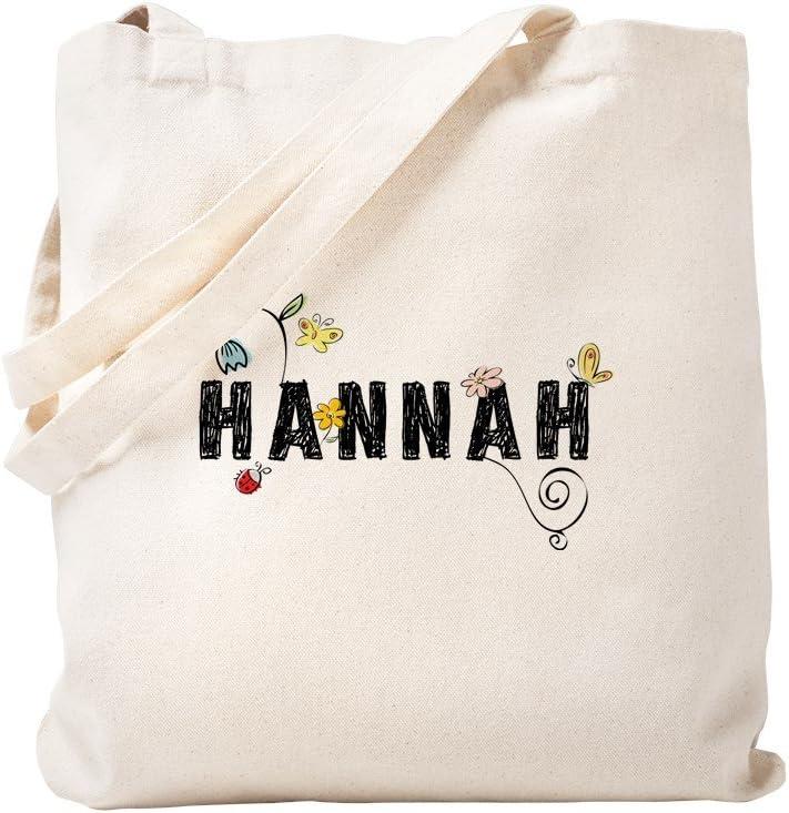 CafePress Hannah Floral Tote Bag Natural Canvas Tote Bag, Reusable Shopping Bag