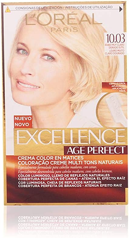 LOréal Paris Age Perfect Coloración permanente, Tono: 10.03 ...
