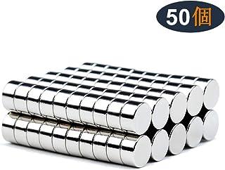 磁石 超強力 小型 多用途 丸形マグネット 冷蔵庫、事務所、科学、工芸に最適 小型丸ディスク磁石 (6*3mm (50個))