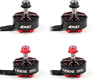 Crazepony 4pcs EMAX RSII2306 2600KV Brushless Motor CW CCW Support 3-4s Lipo Compatible with 210 215 220 250 Frame for FPV Racing Quadcopter