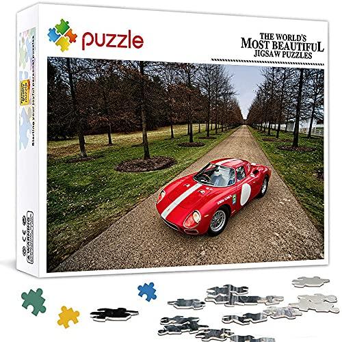 Rompecabezas de 1000 piezas, imposible para adultos y niños, 1000 Ferrari 250 lm (75 x 50 cm)