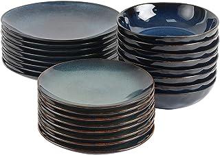 ProCook Vaasa - Service de Table en Grès - Set 24 Pièces/Pour 8 Personnes - Petite Assiette, Grande Assiette & Assiette Cr...