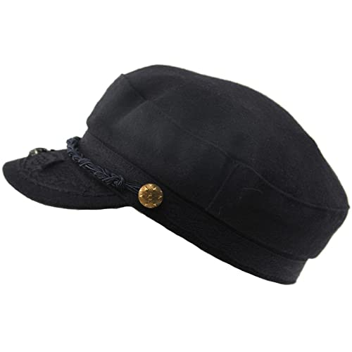 2f93a604e45 SK Hat shop Men s Greek Fisherman Sailor Fiddler Winter Wool Driver Hat  Flat Cap