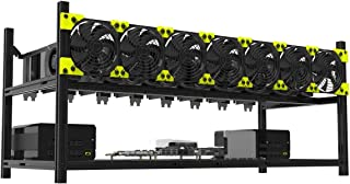 Veddha BleevIn 8 GPU Minercase V3C Aluminum Stackable Mining Rig Open Air Frame Case (BlackStorm)
