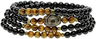 [コアイ]COAI 108数珠 オニキス タイガーアイ チベット天珠 ブレスレット