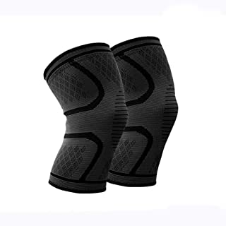 Flexlife Brand Compression Knee Sleeve Knee Brace w/Bonus Item 3ct Resistance Band Used to Strengthen Muscles Pain Relief Running, Jogging, Lifting, and Arthritis Premium Knee Sleeves and Braces