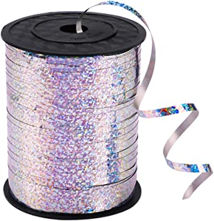 500 Yards Silver Shiny Curling Ribbon Metallic Balloon Roll for Party Festival Art Craft Decor,Florists, Weddings, Crafts ...