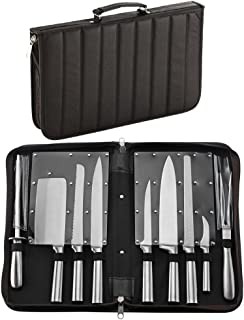 HQY Professional Knives, Premium Stainless Steel 9 Piece Chefs Knife Set in Case