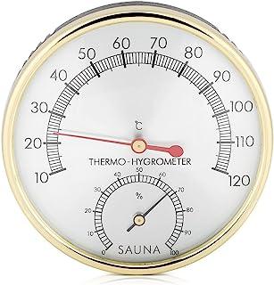Thermomètre hygromètre 2 en 1 pour salle de sauna avec cadran en métal