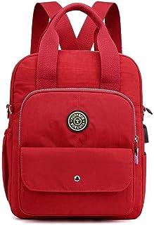 LIMING Nylon Casual Backpack Lightweight Multi-Pocket Shoulder Bag Waterproof Mommy Bag (Color : Gray, Size : 29 * 9 * 3...