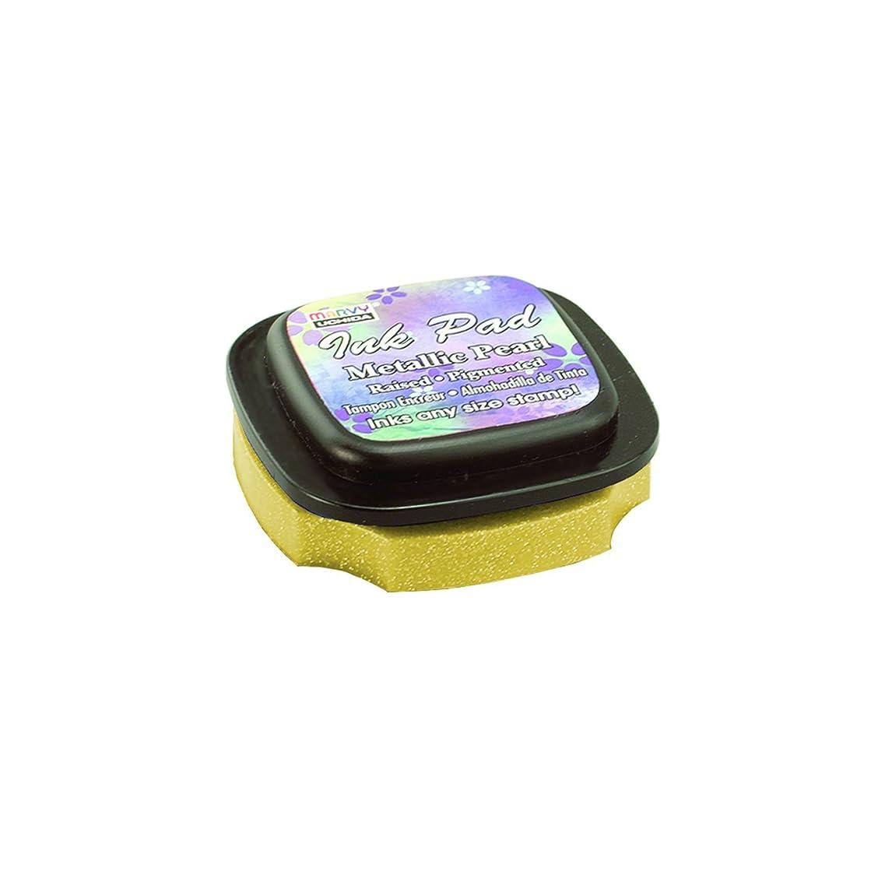 Uchida 80MP-C-GLD Marvy Metallic Pearl Pigmented Ink Pad, Gold