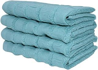 argento 4 salviette 2 asciugamani Set di 8 asciugamani 700 g//mq 100/% cotone egiziano filato ad anello altamente assorbente 2 asciugamani da bagno Casa de Oro qualit/à alberghiera