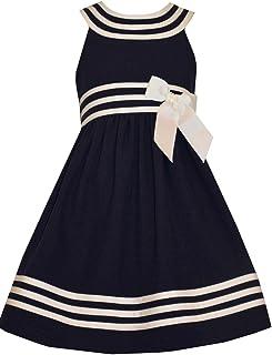 Girls Easter Navy Nautical Uniforms Dress