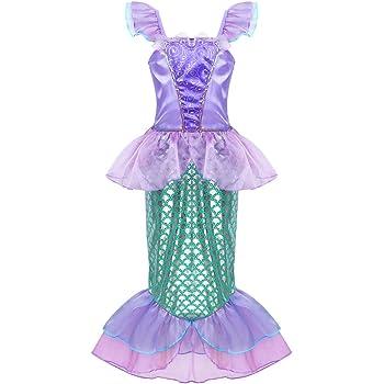 iiniim Vestido de Sirena Niña Vestido Largo Princesa Elegante ...