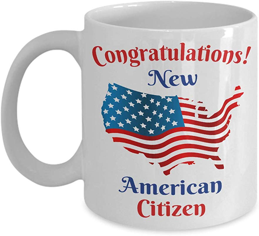 New Citizen Mug Citizenship Gift With American Flag For Proud US Men And Women Coffee Cup
