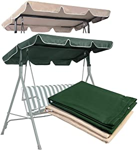 legendary-Yes Swing Canopy Replacement Waterproof Top Cover for Outdoor Garden Patio Swing Porch Yard (66