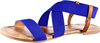 MUDAN Women's Elastic Flat Sandals