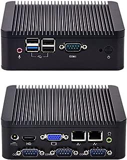 KANSUNG Intel Celeron Dual Core J1800 Fanless Mini PC 8G Ram 128G SSD X86 Micro PC Firewall Router 4 COM Nettop PC