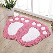 Water Bath Mat Bathroom Shower Room Rug Pad Bath Mat Washable Soft mat (Color : Pink, Size : 48 x 67cm)