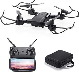 Powerextra Mini Drone con Cámara para niños y Adultos - RC Quadcopter Giroscopio de 6 Ejes con Control Remoto HD WiFi Cámara FPV 2.4 GHz Flips 3D y función de Giro de Alta Velocidad - Drone Regalo