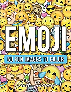 Emoji: An Emoji Coloring Book for Kids with 50+ Funny, Cute, and Easy Coloring Pages