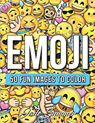 Image: Emoji: A Coloring Book with 50+ Fun, Easy, and Hilarious Coloring Pages Emoji Gifts for Relaxation, by Jade Summer (Author). Publisher: CreateSpace Independent Publishing Platform (March 17, 2017)