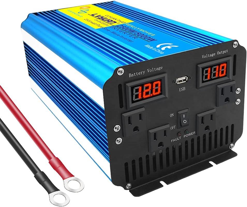 Cantonape Pure Sine Wave Power 5000W 2500W Inverter Surge Ranking [Alternative dealer] integrated 1st place