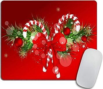 Tech Desk Office Computer Office Supplies Christmas Reindeer Mouse Pad Holiday Winter Neoprene Non Slip Mouse Pad Christmas Mouse Pad
