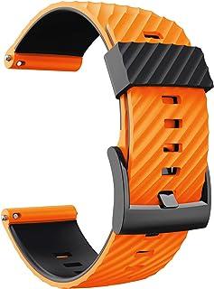 N/0 Linhuahua Bracelet de rechange en silicone souple pour montre Suunto 7/9/Baro/D5