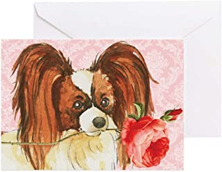 CafePress Papillon Rose Greeting Card, Note Card, Birthday Card, Blank Inside Matte